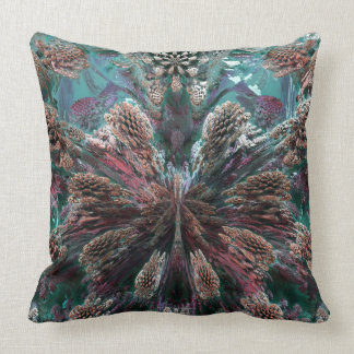 Mandelbulb Fractel Throw Pillow