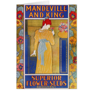 Mandeville and King seed catalog Card