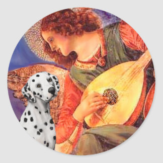 Mandolin Angel - Dalmatian Round Sticker