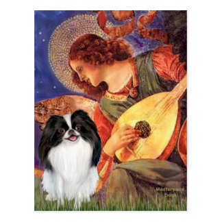 Mandolin Angel - Japanese Chin 3 Postcard