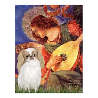 Mandolin Angel - Japanese Chin (L1) Postcard