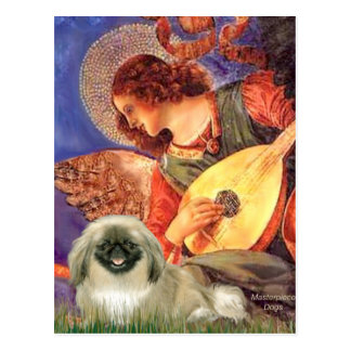 Mandolin Angel - Pekingese 1b Postcard