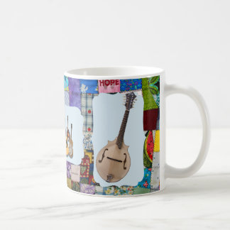 MANDOLIN-BLUEGRASS BAND-QUILTED COFFEE MUG