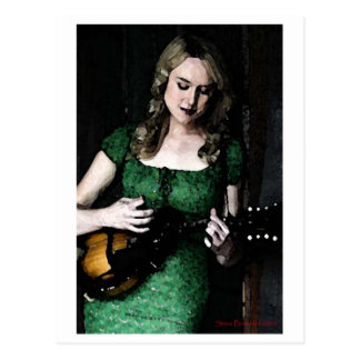 Mandolin Maiden Postcard