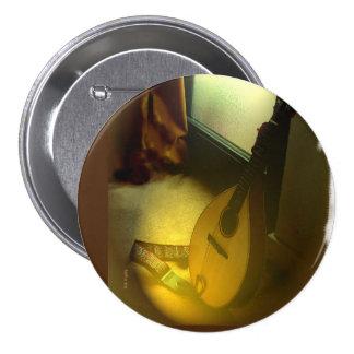 Mandolin Music 3 Inch Round Button