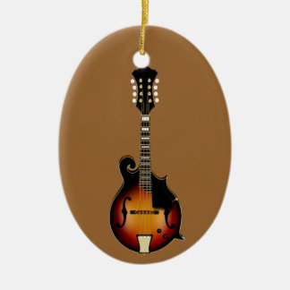 Mandolin Mustard Ceramic Ornament