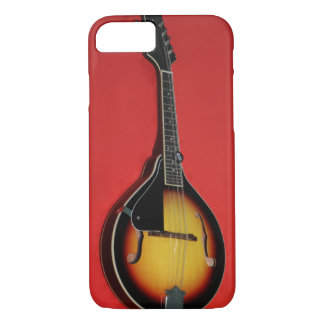 Mandolin on Red Background iPhone 7 Case