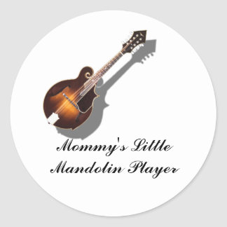 MANDOLIN-STICKER CLASSIC ROUND STICKER