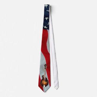 mANDOLIN -TIE-AMERICAN FLAG Tie