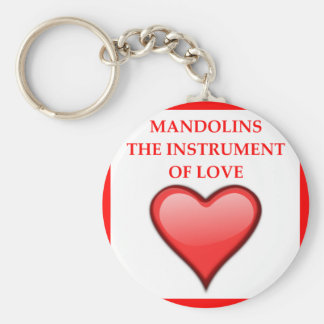 MANDOLINS BASIC ROUND BUTTON KEYCHAIN