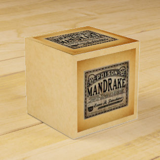 Mandrake Poison Vintage Label Halloween Favors Favor Box