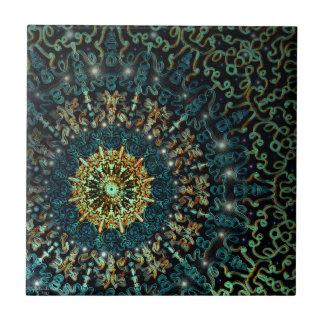 Mandrel Ceramic Tile Digital Art by Artful Oasis