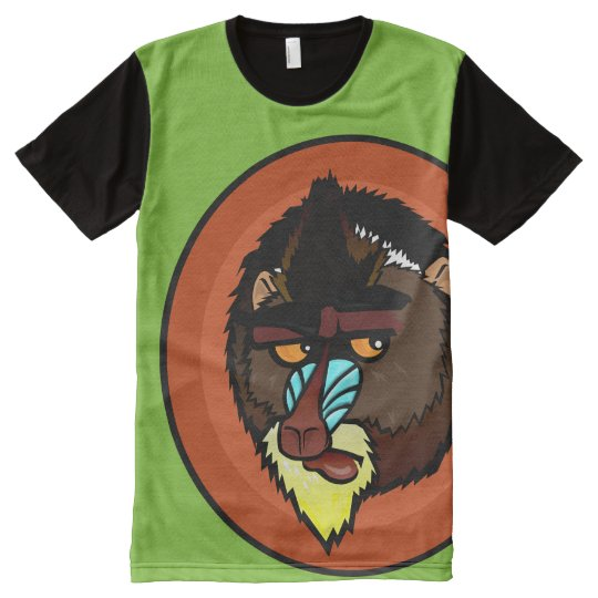 MANDRILL ALL OVER PRINT PANEL T-SHIRT