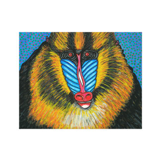 Mandrill Wrapped Canvas