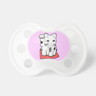 Maneki Neco Lucky Cat  Baby Girl Pacifier