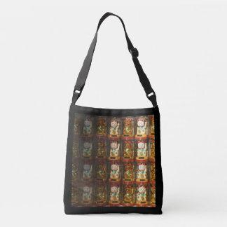 Maneki-neko 004, Winke-Glueckskatzen, Winkekatze Crossbody Bag