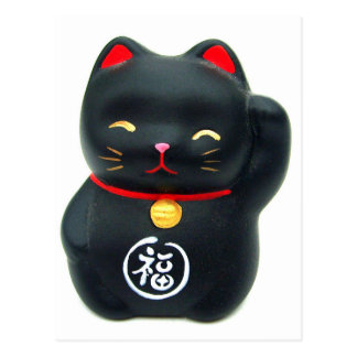 "Maneki Neko ""Beckoning Cat"" Lucky Cat Postcard"