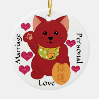 Maneki Neko Beckoning Cat - SRF Ceramic Ornament
