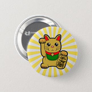 Maneki Neko: Golden Lucky Cat 2 Inch Round Button
