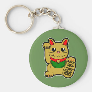 Maneki Neko: Golden Lucky Cat Keychain