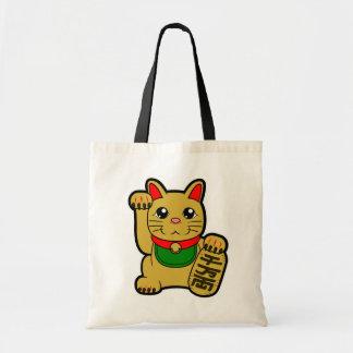 Maneki Neko: Golden Lucky Cat Tote Bag