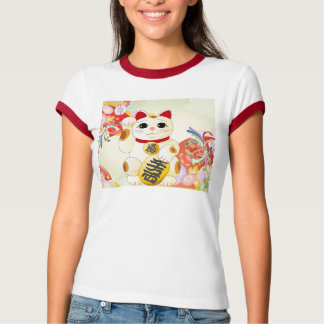 Maneki Neko Japanese Fortune Cat T-Shirt