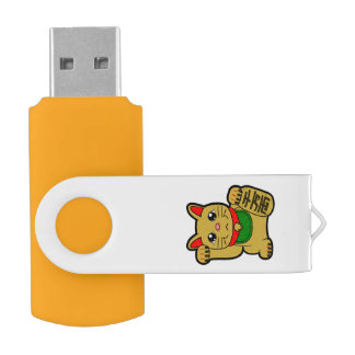 Maneki Neko: Japanese Golden Lucky Cat USB Flash Drive