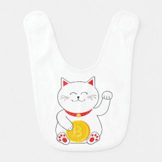Maneki Neko Lucky Cat Bitcoin Baby Bib