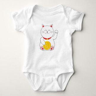 Maneki Neko Lucky Cat Bitcoin Baby Bodysuit