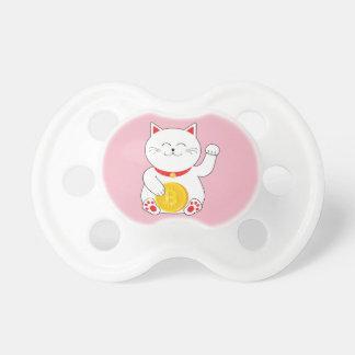 Maneki Neko Lucky Cat Bitcoin Baby Pacifier