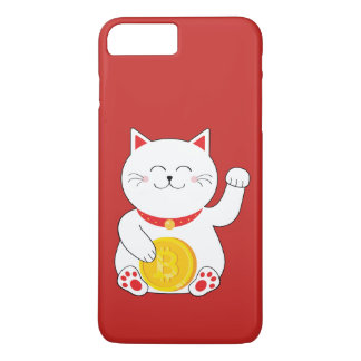 Maneki Neko Lucky Cat Bitcoin Phone Case