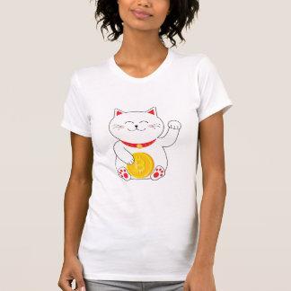 Maneki Neko Lucky Cat Bitcoin T shirt