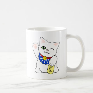 Maneki Neko Lucky Cat Coffee Mug