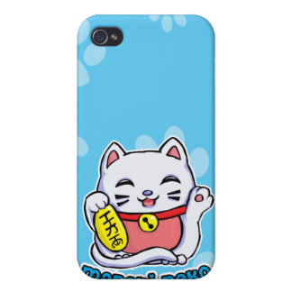 Maneki Neko lucky cat iPhone 4 Covers