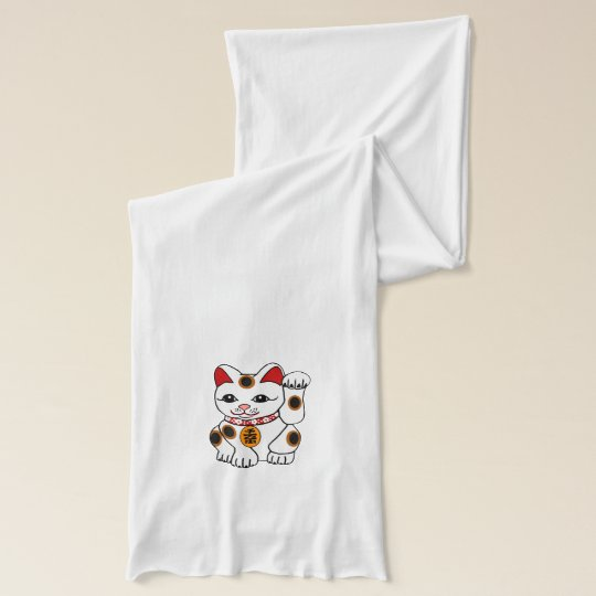 Maneki Neko Lucky Cat Scarf