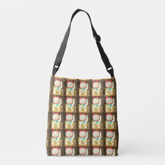 Maneki-neko, Lucky cat, Winkekatze Crossbody Bag