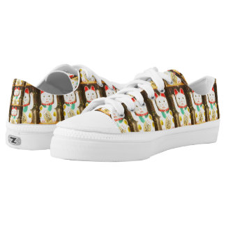 Maneki-neko, Lucky cat, Winkekatze Low-Top Sneakers
