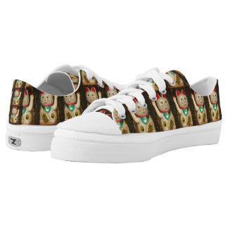 Maneki-neko, Lucky cat, Winkekatze Low-Top Sneakers