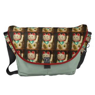 Maneki-neko, Lucky cat, Winkekatze Messenger Bag