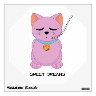 Maneki Neko Sweet Dreams Cat  - SRF Wall Sticker