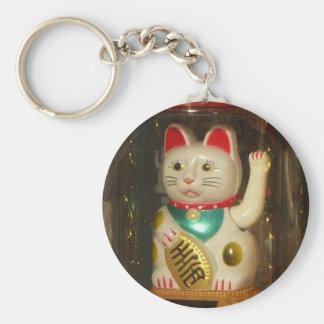 Maneki-neko, Winke-Glueckskatzen, Winkekatze Basic Round Button Keychain