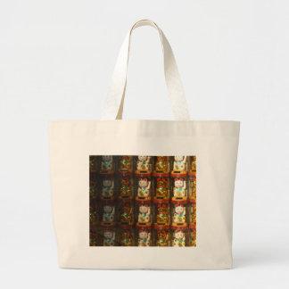Maneki-neko, Winke-Glueckskatzen, Winkekatze Jumbo Tote Bag