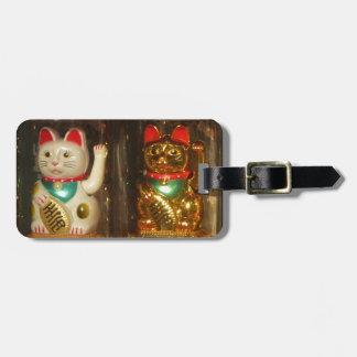Maneki-neko, Winke-Glueckskatzen, Winkekatze Luggage Tag