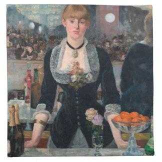 Manet Bar at Folies Bergère Fine Art Napkin