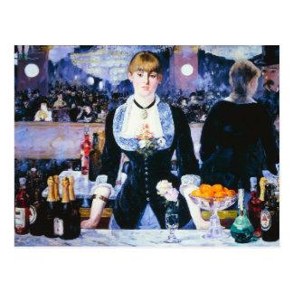 Manet Bar at the Folies Bergere Postcard