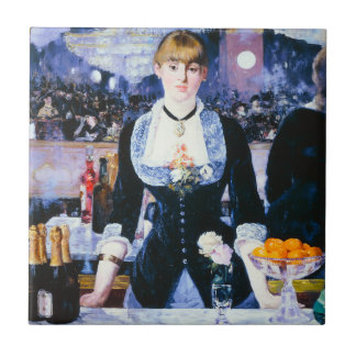 Manet Bar at the Folies Bergere Tile