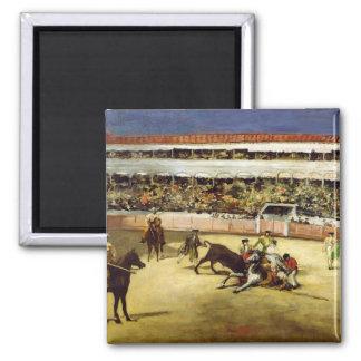 Manet | Bull Fight, 1865 Square Magnet