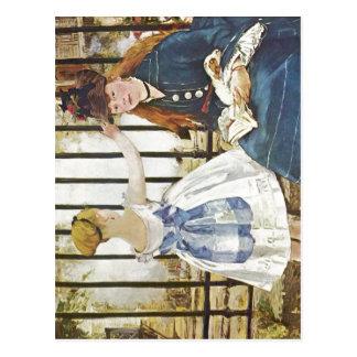 Manet, Edouard Eisenbahn 1872-1873 Technique ?l au Postcard