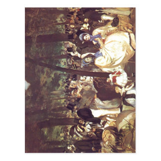 Manet, Edouard Musik im Tuileriengarten 1862 Techn Postcard