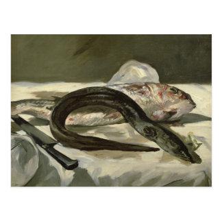 Manet | Eel and Red Mullet, 1864 Postcard